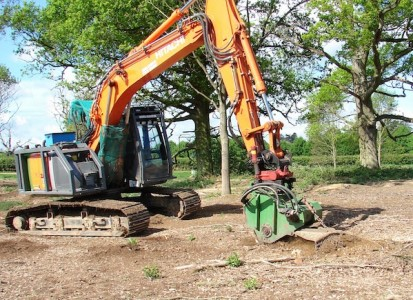Hitachi Excavator Stump Grinder